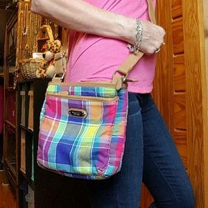 Rosetti vibrant plaid crossbody purse